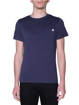 T-shirt k-way uomo taschino BLUE DEPHT