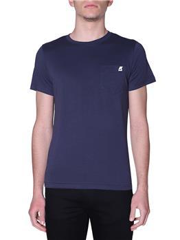 T-shirt k-way uomo taschino BLUE DEPHT
