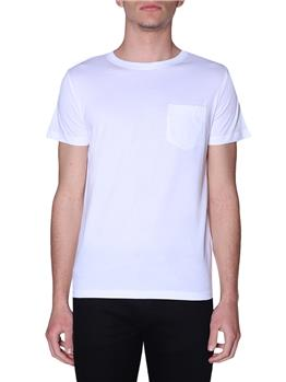 T-shirt k-way uomo taschino WHITE P1