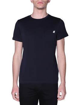 T-shirt k-way uomo taschino BLACK PURE