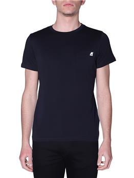T-shirt k-way uomo taschino BLACK PURE