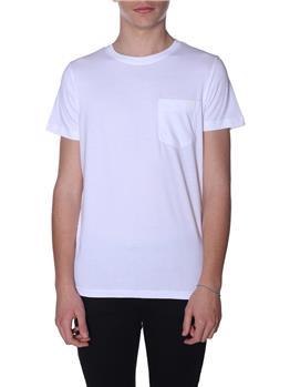 T-shirt k-way uomo taschino WHITE