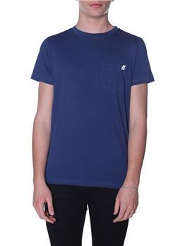 T-shirt k-way uomo taschino BLUE OTTANIO