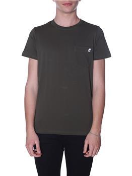 T-shirt k-way uomo taschino GREEN AFRICA