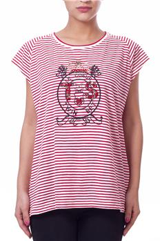 Twin set t-shirt righe ROSSO P6