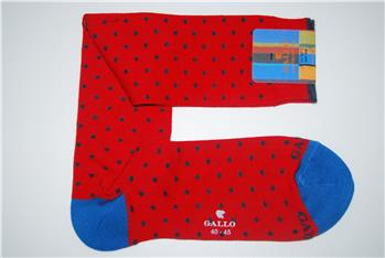 Calza gallo pois collection ROSSO JEANS