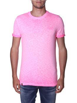 T-shirt superdry uomo classica DEEP POP PINK