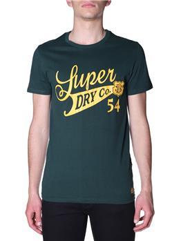 T-shirt superdry collegiate ENAMEL GREEN