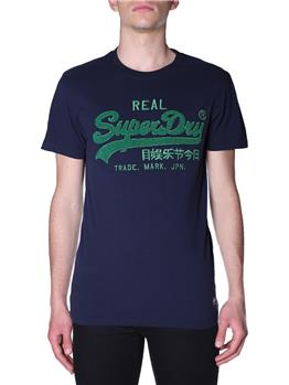 T-shirt superdry chenille tee NAVY