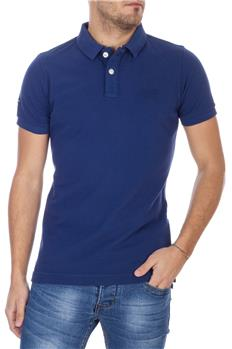 Superdry polo in pique'classic BLU