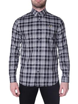 Camicia fred perry uomo check BLACK