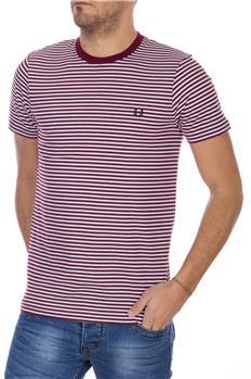 T-shirt fred perry uomo riga BIANCO E ROSSO