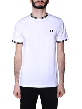 T-shirt fred perry uomo WHITE P0