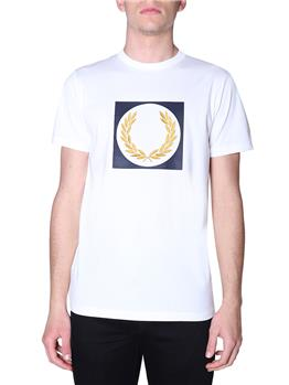 T-shirt fred perry logo grande SNOW WHITE