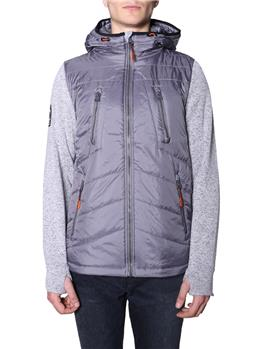 Storm hybrid ziphood SILVER HEATHER MARL