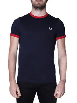T-shirt fred perry uomo NAVY BLOOD