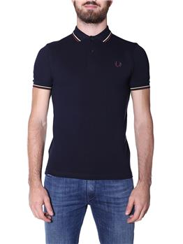 Fred perry polo mezza manica NAVY CHAMPAGNE MAHOG