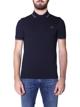 Fred perry polo mezza manica NAVY GUNMETAL