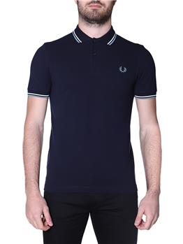 Fred perry polo mezza manica NAVY SNW SMOCKED BLU