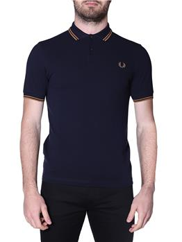 Fred perry polo mezza manica NVY DRK CARAMEL