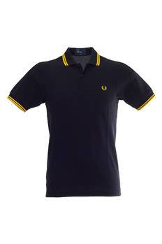 Polo fred pery classica BLACK NEW YELLOW