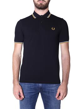 Fred perry polo mezza manica BLACK WHITE GOLD