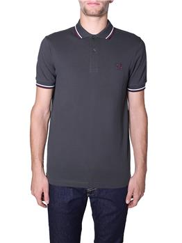 Polo fred perry mezza manica ANTHRCTE WHT MGY
