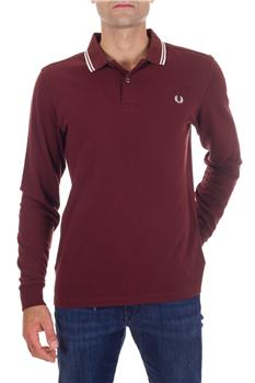 Polo fre perry mezza manica BORDEAUX