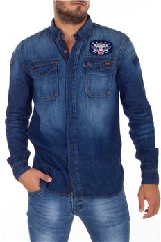 Superdry camicia jeans uomo JEANS