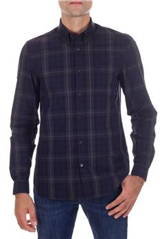 Camicia fred perry quadri BLU Y9