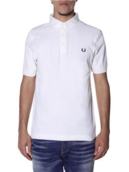 Polo fred perry 3 bottoni BIANCO
