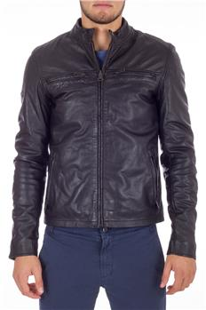Superdry giacca pelle comp jkt NERO