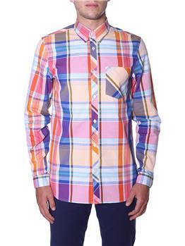 Camicia fred perry uomo quadri ARANCIO