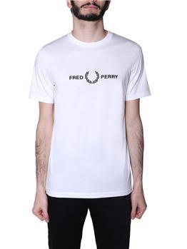 T-shirt fred perry uomo SNOW WHITE