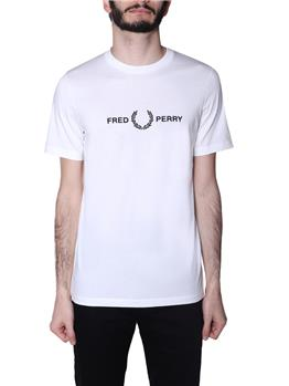 T-shirt fred perry uomo SNOW WHITE