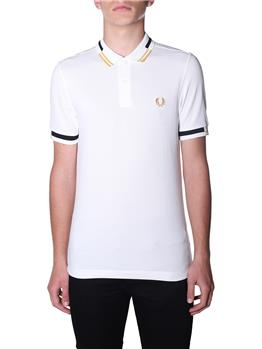 Polo fred perry uomo SNOW WHITE P0