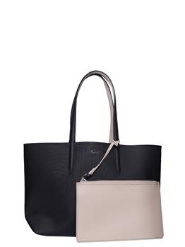 Borsa lacoste donna shopping NERO