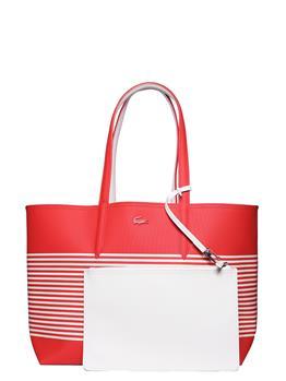 Borsa lacoste donna shopping BIANCO E ARANCIO