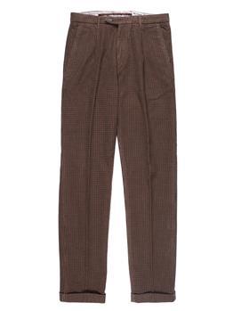 Pantalone re-hash mucha cotone PIEDE POOL BEIGE ROSSO BLU
