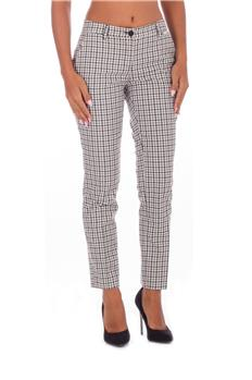 Twin set pantalone quadretti BEIGE