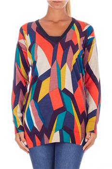 Twin set maglia scollo v MULTICOLOR