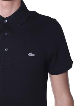 Polo lacoste uomo stretch NERO
