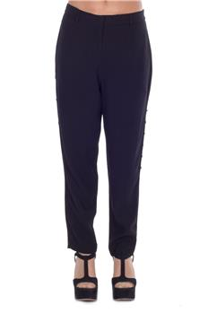 Pantalone twin set pizzo nero NERO