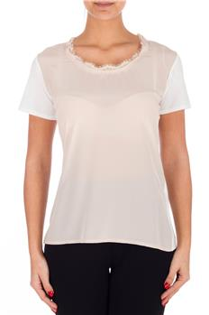 T-shirt twin set mezza manica CREMA