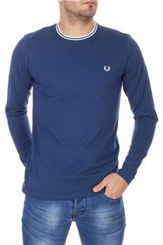 Fred perry t-shirt rigata BLU CHIARO
