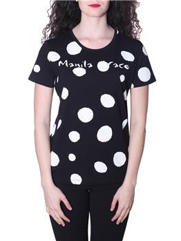 T-shirt manila grace fantasia NERO LAVAGNA