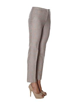 Pantalone twin set quadretto BEIGE