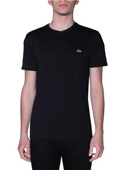 T-shirt lacoste 3 bottoni NERO