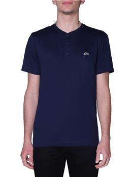 T-shirt lacoste 3 bottoni BLU