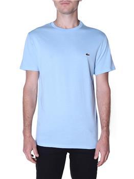T-shirt lacoste cotone pima CELESTE MEDIO